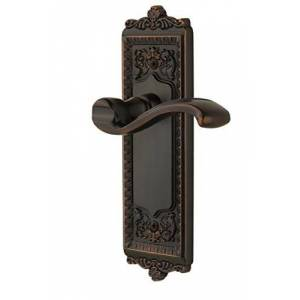 Grandeur Windsor Plate with Right Handed Portofino Lever, Single Dummy, Timeless Bronze