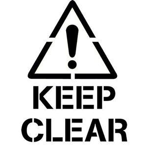 """Tamengi calcomanía decorativo para pared con texto en inglés """"Keep Clear Sign Shop"""", 70 x 91,9 cm"""