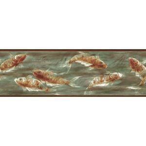 Brewster 80B64167 Borders and More Coy Fish borde de pared, 6.875-pulgadas por 180 pulgadas