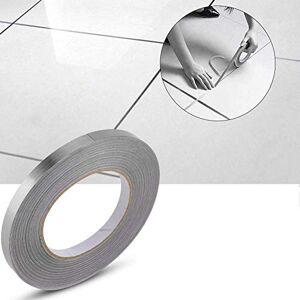 SLKQQQIQ Cintas de sellado impermeables de PVC, tiras de calafateo autoadhesivas profesionales Etiqueta de línea de grieta de piso Decoración de azulejos de esquina de tierra (1 cm*50 m, Oro)