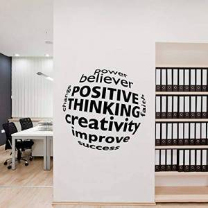 VinMea calcomanía decorativo de vinilo para pared, diseño de frase con frase motivacional para la oficina, sala de estar, recámara, aula, oficina, etc.