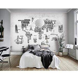 hwhz Fondo De Pantalla Personalizado Mapa Del Mundo Pintado A Mano Nórdico Tv Telón De Fondo Pared 3D Decoración Del Hogar Sala De Estar Dormitorio Murales 3D Wallpaper3D-150X120Cm