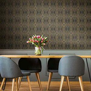 RoomMates Papel pintado para pared, diseño de abejas, Negro