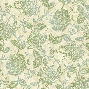 York Wallcoverings NY4863SMP Nautical Living Lillian Wallpaper Memo Sample, 8-Inch x 10-Inch, Pearlescent Beige, Ecru, Aqua, Beach Grass Yellow/Green