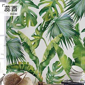 LHFLHI El Sudeste De Asia Planta Fresca Hojas Verdes Papel Tapiz Sin Costuras Ornamento Tv Fondo Papel De Pared Pintado A Mano Mural-350 * 245Cm