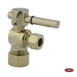 Elements of Design kingston brass cc53302dl Concord decorativa Válvula de cuarto de vuelta con 5/20.3cm od compresión y 3/8-inch Od compresión, mango de palanca, latón pulido
