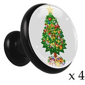 Desheze Pomos redondos de aleación para armarios de Navidad y muñeco de nieve, 4 piezas, tiradores para armarios, cajones, armarios de cocina con tornillos, 1.26 x 1.18 x 0.66 pulgadas, perilla, 1.26x1.18x0.66in, 5