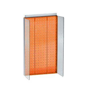 """Azar Displays 700355-ORG 13,75"""" W x 22"""" H Pegboard Powerwing in Translúcido Naranja soporte de pared para visualización plana"""
