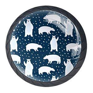 DJROW Pomos de cajón con diseño de oso panda y estrellas, 4 unidades, para cocina, baño, pomos de cajón únicos, color rosa, 35 mm, negro 03