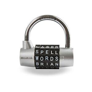 Wordlock 5-dial Candado, Individual, Plateado