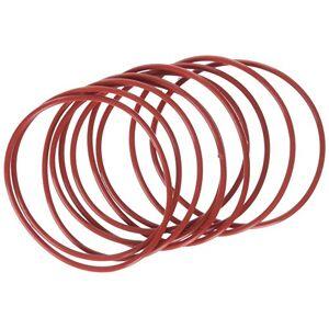 uxcell mecánico Goma Anillo O Sello de aceite juntas (10piezas), Rojo, 58mm x 2mm