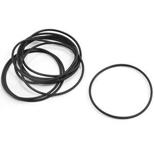 uxcell juntas de goma para juntas tóricas (10 unidades), negro, 44 mm x 41 mm x 1,5 mm