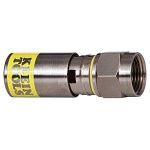 Klein Tools VDV812-606 Conector Compresión Universal F RG6-RG6Q Paquete con 10 pzas.