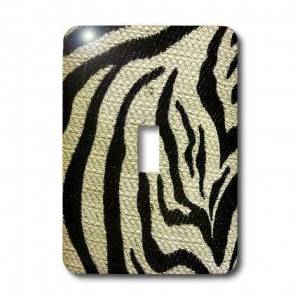 3dRose LLC lsp_34816_1 Zebra Black and Beige Single Toggle Switch