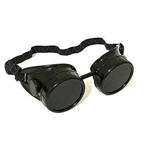 ALAZCO anteojos de soldar, color negro, con diseño de Steampunk, 50 mm