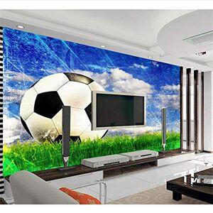 Mznm Personalizado 3D No Tejido Wallpaper Tv Telón De Fondo Murales De Pared Fútbol Hierba Cielo Azul Nubes 3D Decoración Del Hogar-350X250Cm