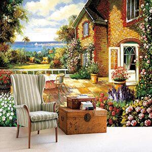 Meaosy Country Style Wall Mural European Farmhouse Garden Photo Wallpaper Pintura Estereoscópica 3D Para Sala De Estar Papel De Pared En Relieve