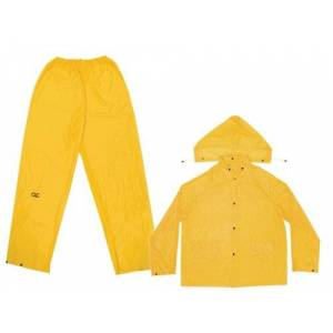 Custom LeatherCraft CLC  lluvia Wear .10mm 3piezas traje impermeable de PVC