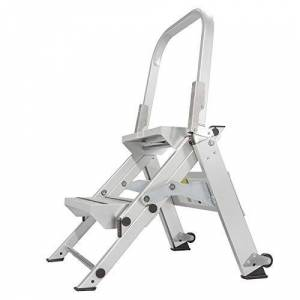 Core Distribution Xtend & Climb Professional Series Taburete plegable con pasamanos, 2 Step, Aluminio