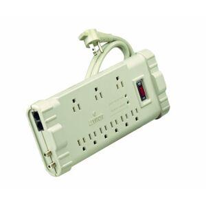 Leviton S2000-PTC 120 voltios/15 amperios, tira de sobretensión de grado de oficina, caja de plástico ABS, cable de 6 pies, enchufe 5-15P