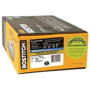 Bostitch Clavos de enmarcado, bobina de alambre de colado, revestimiento grueso galvanizado, cabeza redonda, 15 grados, 5 cm x 0,090 pulgadas, paquete de 3600 (C6P90BDG)