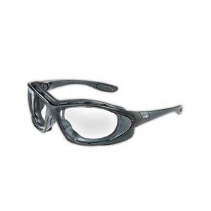 Uvex S0600X anteojos de seguridad sísmica, marco negro, lente transparente tra antiempañamiento/diadema