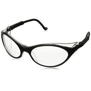 Honeywell Uvex S1600X Bandit anteojos de seguridad, marco negro, lente antivaho ultravioleta transparente