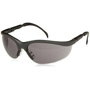 MCR Safety Crews KD112 Klondikke Safety Glasses, Black Matte Frame Grey Lens, 1 Pair