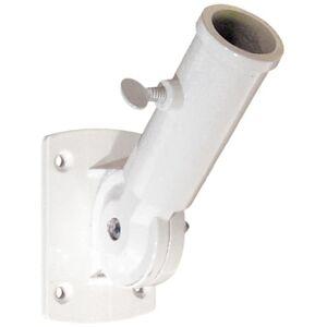 PRiME U 10256 Flag Pole Holder, Adjustable, White Diecast