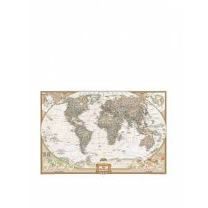 Wall Pops WPE0668 Dry Erase Map Decal National Geographic World