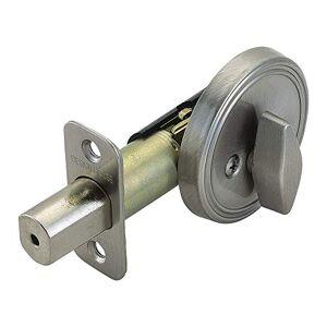 Design House 750836 Single Sided Deadbolt Lockset, Adjustable Backset, Satin Nickel Finish