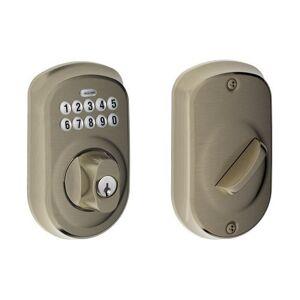 Schlage Lock Company Schlage BE365 PLY 620 Plymouth Cerrojo con Teclado, Peltre Antiguo