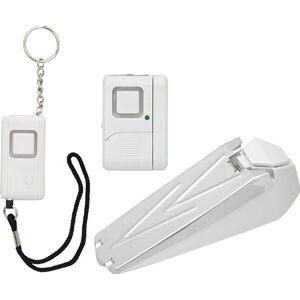 GE Kit de seguridad personal, llavero/tope de puerta/ventana o alarma de puerta, sirena de 120 dB, fácil de usar, sin cables, perfecto para el hogar, departamento, recámara y viajes, 45216