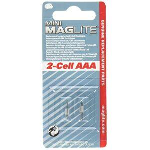 Maglite Bombilla de repuesto para minilinterna, paquete de 2 AAA