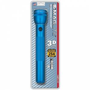 Maglite Heavy-Duty Incandescent 3-Cell D Flashlight, Blue