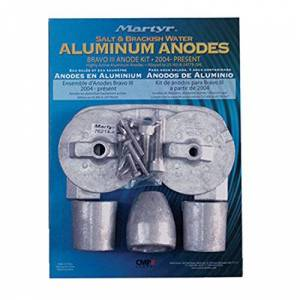 Canada Metals - Martyer Anodes Martyr CMBRAVO3KITA Aluminum Anode Kit for Mercury Bravo III by Martyr