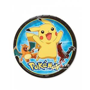 AMERICAN GREETINGS Pokemon Round Plate (8 Count), 9
