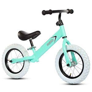 Bicicletas sin pedales Bicicleta de Equilibrio con Marco de Acero Al Carbono, Freestyle Niños Sin Pedales Bicicleta de Entrenamiento de Equilibrio for Caminar for Niños de 3-6 Años ( Color : Green )