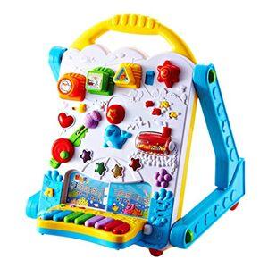 BLWX-Juguete Mesa de Estudio multifunción electrónica, bebé, niña, Empujar a Mano, Sentarse, Andar, Andador, multifunción, antivuelco Juguete