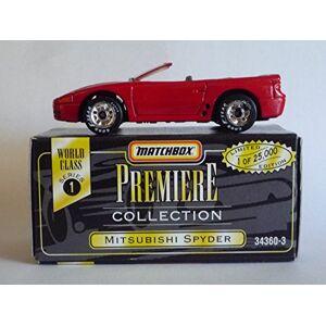 Matchbox 1995  Colección Premiere Mitsubishi Spyder (Rojo) Serie 1 MOC Escala 1:64 Nuevo