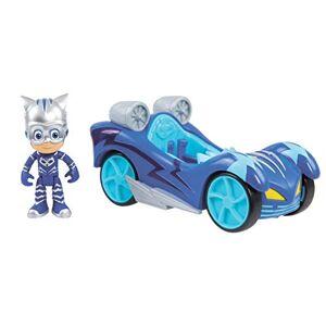 PJ Masks Turbo Blast Vehículos Figura de búho y búho, Catboy, Azul