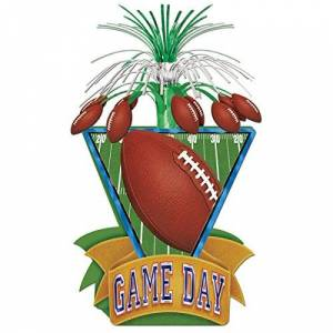 "Beistle Game Day Centro de fútbol (38 cm), Multicolor, 10.75"" Lx8.5 Wx5.63 H"