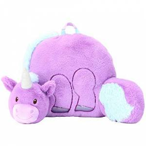 "Animal Adventure Soft Landing   Nesting Nooks   Respaldo con diseño de Dinosaurio, Unicornio, Púrpura/Azul, 14"" x 26"" x 16"