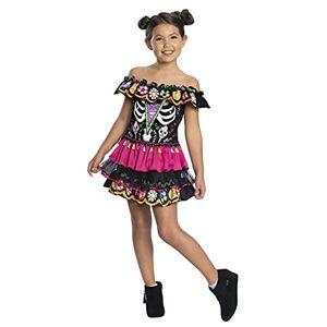 Charades Disfraz de Día de los Muertos para niño, Talla Grande