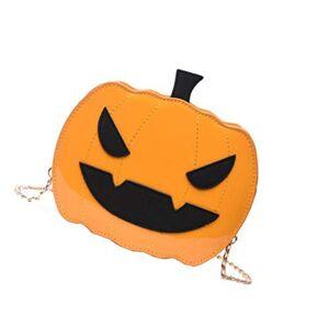Amosfun Bolso de Cadena de Calabaza de Halloween Bolso Cruzado de Halloween Bolso de Hombro para niña de Halloween Suministros para Fiestas de Mujeres