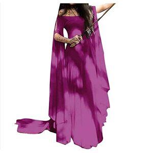 WXGTIN Vestido De Halloween para Mujer Retro Medieval con Hombros Descubiertos, Rojo, M