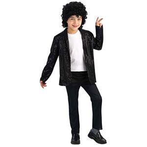Rubie's Disfraz de Michael Jackson, de Lujo, de Billie Jean, con Lentejuelas, para niños, como se Muestra, Mediano