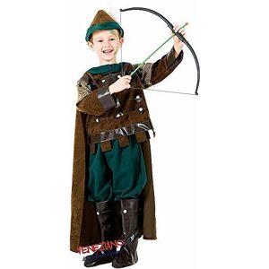 Fancy Me Disfraz de Arquero del Bosque Medieval, Hecho en Italia, para Halloween, Carnaval, para niños de 3 a 10 años, 5 Years
