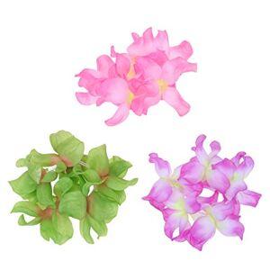 Beaupretty 3 Juegos de Guirnaldas de Guirnaldas Florales Guirnaldas Coloridas Accesorios de Lujo para Fiestas en La Playa Tropical (Rosa Púrpura Verde Claro)