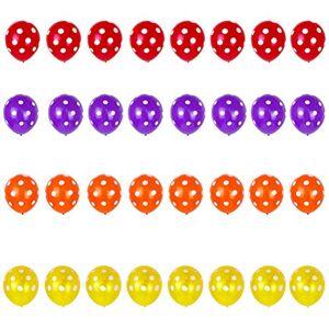 NUOBESTY 32pcs Lunares Globos Globos de látex para Bodas de cumpleaños Fiesta